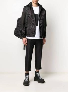 Black camouflage print jacket