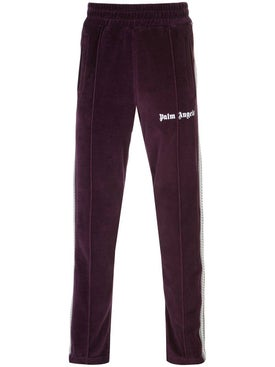 Palm Angels - Velvet Track Pants Purple - Men