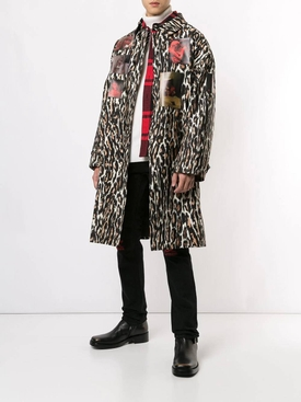 Leopard print coat BROWN