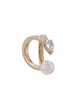 Double arc diamond cuff earring YELLOW GOLD