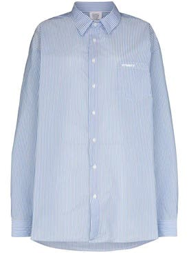 Vetements - Blue And White Striped Shirt - Women
