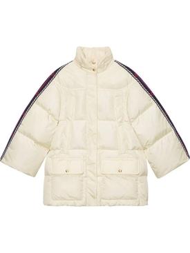 Ivory puffer jacket