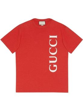Boxy fit logo t-shirt BRICK RED