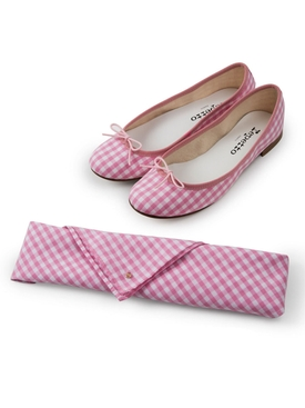 The Webster x Repetto exclusive gingham Cendrillon ballerina