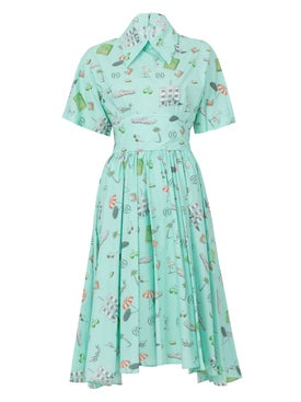 Olympia Le-tan - Mint Kawabata Dress Green - Women
