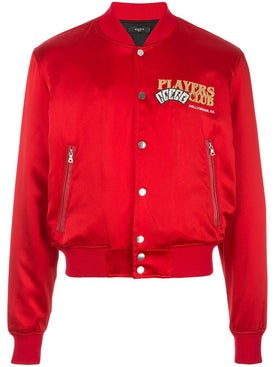 Amiri - Players Club Bomber Jacket Red - Men