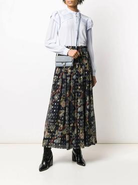 Multicolored silk maxi skirt