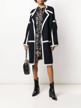 Over-sized grid coat