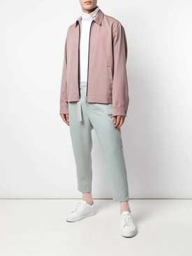 Wool zip-up shirt jacket PINK