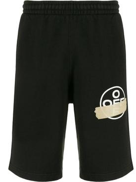 Tape logo shorts BLACK