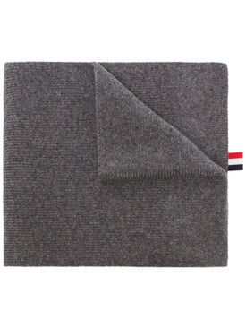 Thom Browne - 4-bar Stripe Cashmere Scarf Grey - Women