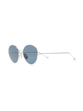 Tinted round frame sunglasses