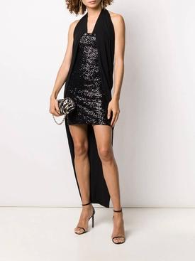 Black sequinned dress