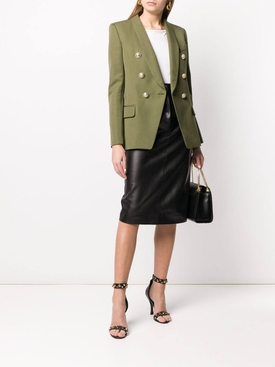 Khaki green structured blazer