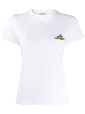 Bonjour logo t-shirt WHITE