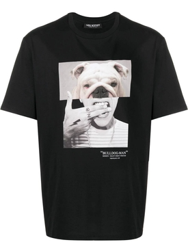 Bulldog graphic t-shirt BLACK