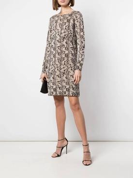 Snake print knit dress