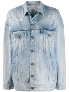 Over-sized light blue denim jacket