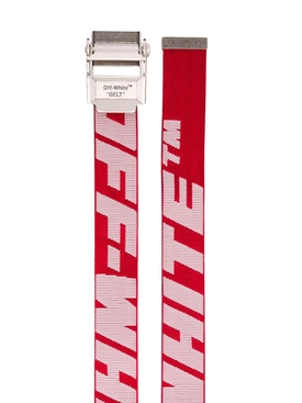2.0 industrial logo print belt RED/WHITE