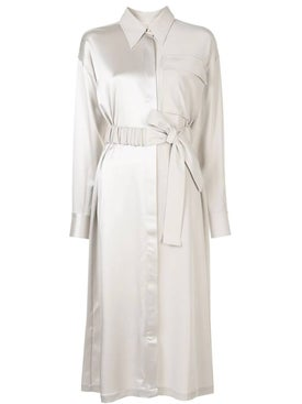 Co - Belted Mid-length Dress - Women