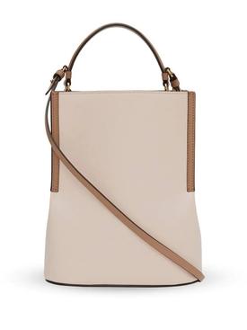 Buttermilk leather bucket bag