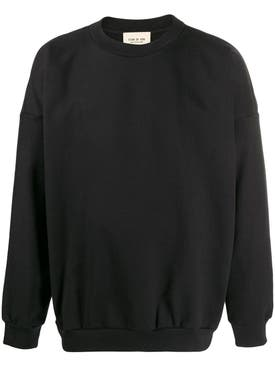 Fear Of God - Over-sized Logo Print Sweatshirt Black - Men
