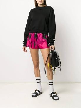 Pink tie-dye shorts