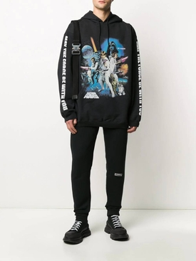 VETEMENTS X STAR WARS logo patch track pants