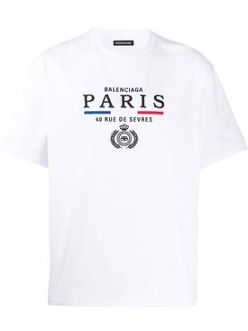 Paris Emblem Logo T-Shirt WHITE