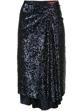 Sies Marjan - Navy Sequin Wrap Skirt - Women