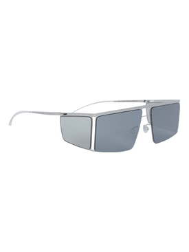 X Helmut Lang Silver Metallic HL001 Sunglasses