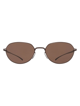Brown tinted oval sunglasses