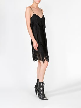 Balmain - Patchwork Fringe Short Dress - Women