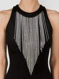 Balmain - Mini Dress With Fringe Collar - Women