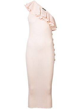asymmertric dress PINK