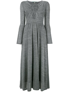 Alexachung - Key-hole Flared Dress Grey - Women