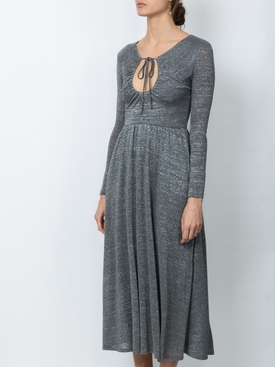 key-hole flared dress GREY