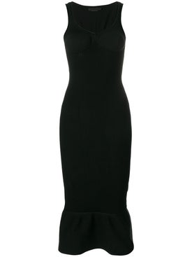Alexanderwang - Peplum Hem Bodycon Dress Black - Women