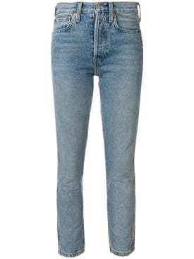 Re/done - Double Needle Crop Jeans - Women