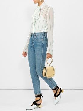 Re/done - Double Needle Crop Jeans - Women