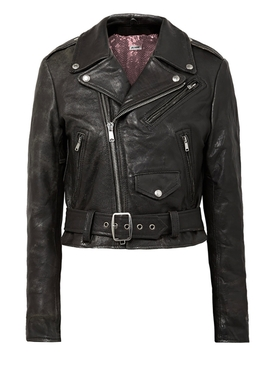 The Webster x Re Done moto racer leather jacket