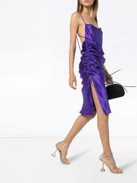 Yasmin midi slip dress PURPLE