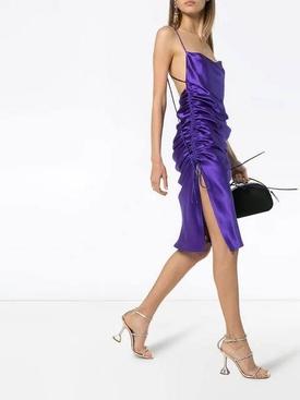 Yasmin midi slip dress PURPLE