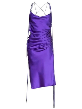 Galvan - Yasmin Midi Slip Dress Purple - Women