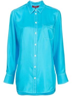 Silk turquoise shirt