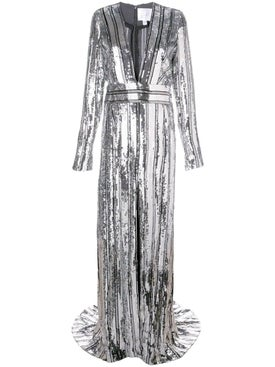 Galvan - Silver Stardust Gown - Evening