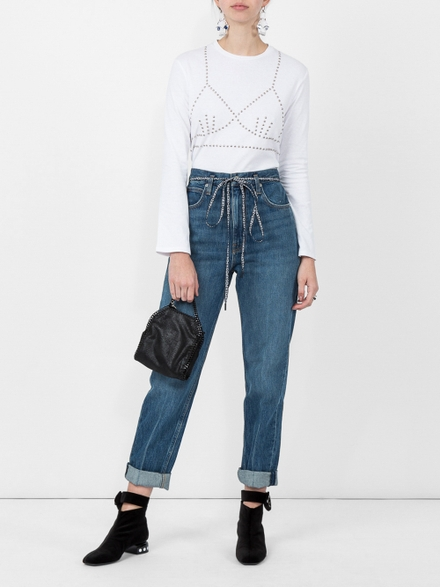 A Diciannoveventitre Pswl Paperbag Jeans Blue