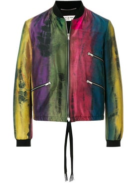 Saint Laurent - Habotai Tie-dye Varsity Jacket - Men