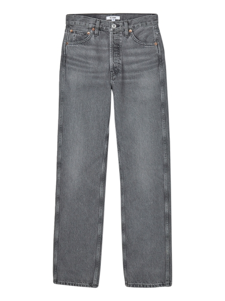 Re/done 90s High Rise Jean, Vintage Ash Grey