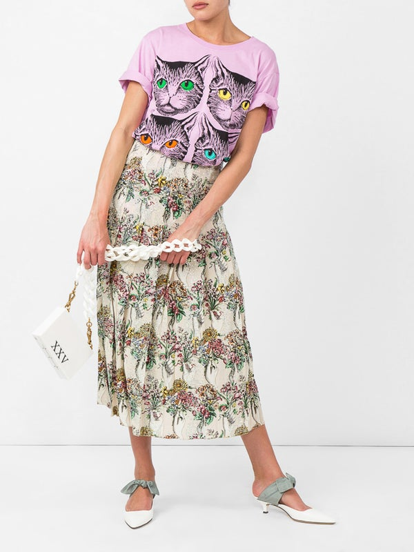 53f77f243102 Gucci - Mystic Cat And Guccy Print T-shirt - Women